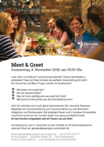 MeetandGreet Herbst 2018